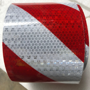 Red & White Class 1 Reflective Adhesive Tape 100mm